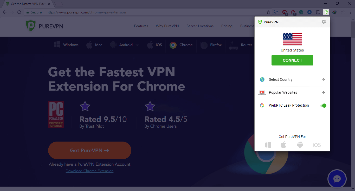 PureVPN Chrome App